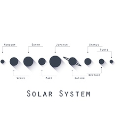 The planets of the solar system in flat style vector image vector image