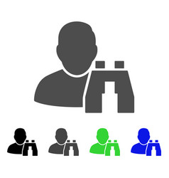 User binoculars search tool flat icon vector