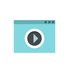 Video movie media player icon flat style vector image