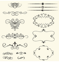 vintage decorative swirls vector image vector image