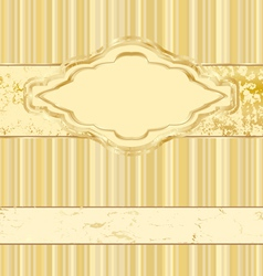 vintage gold label vector image