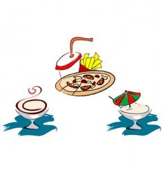 fast food symbols vector image