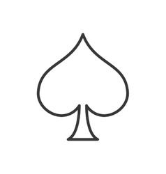 Spade card icon vector