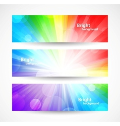 Set of bright colorful banners vector