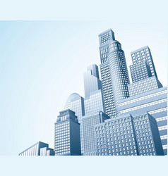 Financial district urban city scape vector