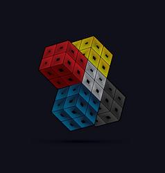 cube box vector image