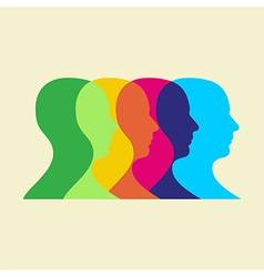 social interaction vector image