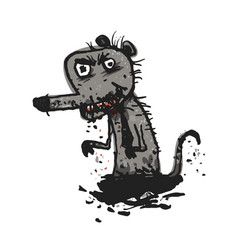 dirty rat comic vector image