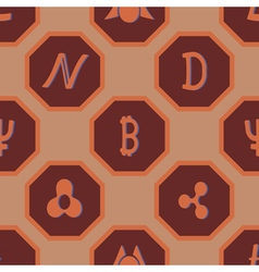 Seamless pattern with different cryptocurrency vector