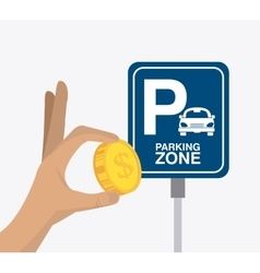 Parking zone graphic design vector