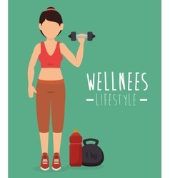Wellnees healthcare lifestyle vector
