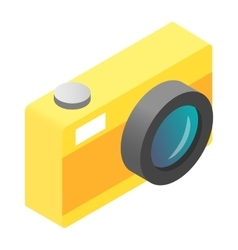 Camera isometric 3d icon vector