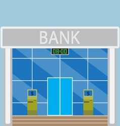 Building modern bank vector