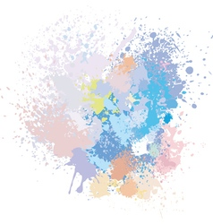 Pastel background of paint splashes vector