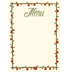 Menu Page Design vector image