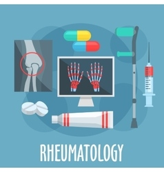 Rheumatology flat icon for healthcare design vector