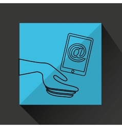 Technology communication icon vector