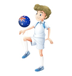 A soccer player playing with the ball from vector image vector image