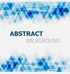 abstract blue triangle overlapping background vector image