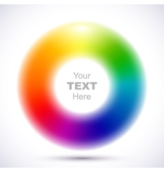 Abstract blurry color wheel vector image