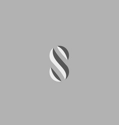 abstract letter s logo design abc creative vector image