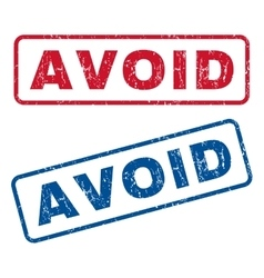 Avoid rubber stamps vector