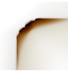 Burned paper edges on white background vector
