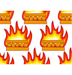 burning wood pattern vector image