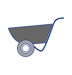 Construction wheelbarrow equipment vector