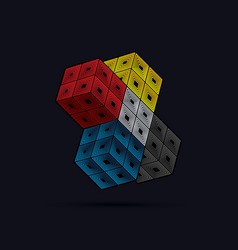 cube box vector image
