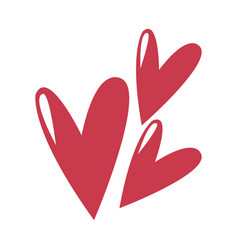 Cute heart love comic symbol vector