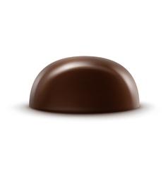 Dark black bitter chocolate candy on background vector