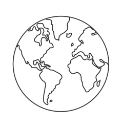 earth globe with distinction between water and vector image