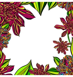 Floral tropical frame vector