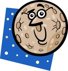Funny mercury planet cartoon vector