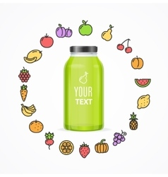 Juice bottle jar template vector