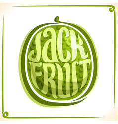 Logo for jackfruit vector