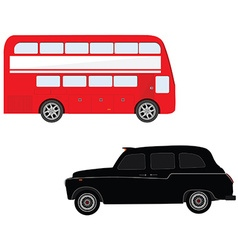 London bus and cab vector