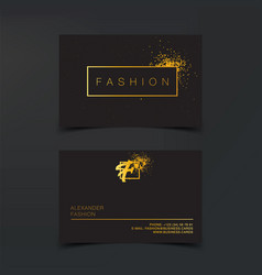 Luxury fashion business cards template vector