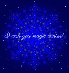 magic winter postcard vector image