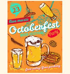 October fest poster vector