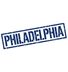 Philadelphia blue square stamp vector
