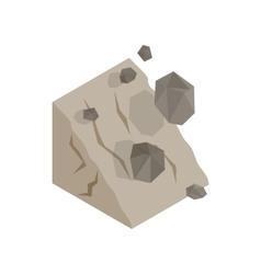 Rockfall icon isometric 3d style vector