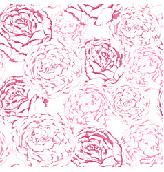 seamless pattern of pink gentle flowers with vector image vector image