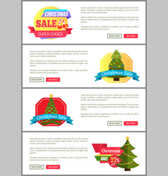 Set of christmas sale super choice half cost cards vector