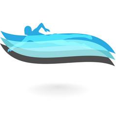 Swimming logo design element vector