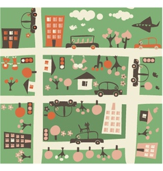 town birdseye vector image vector image