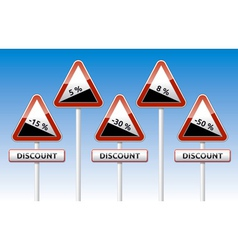 Traffic board sale discount slope vector image