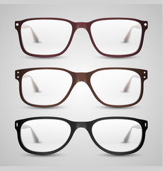 transparent glasses vector image