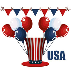 Usa festive design vector